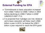 external funding for efa1