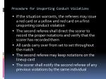 procedure for unsporting conduct violations4