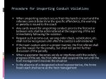 procedure for unsporting conduct violations5