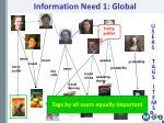 information need 1 global