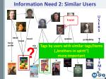 information need 2 similar users