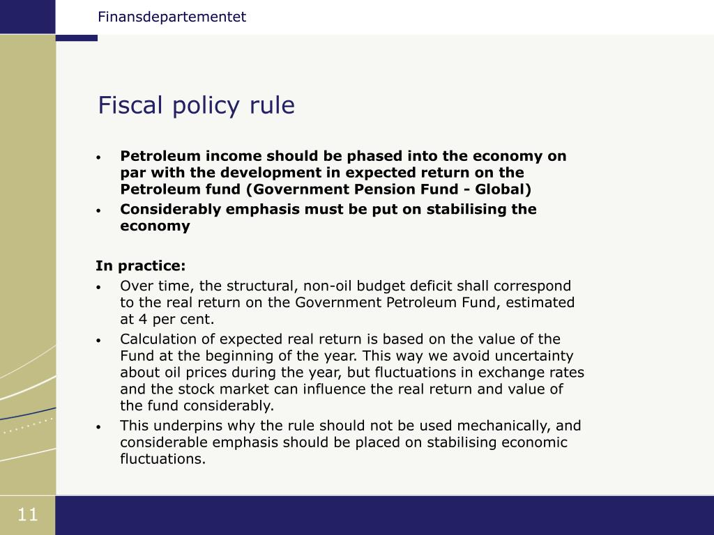 Fiscal policy rule