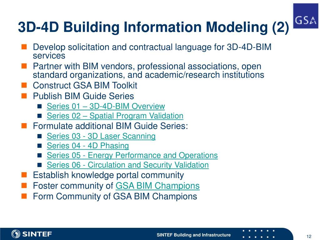 3D-4D Building Information Modeling (2)