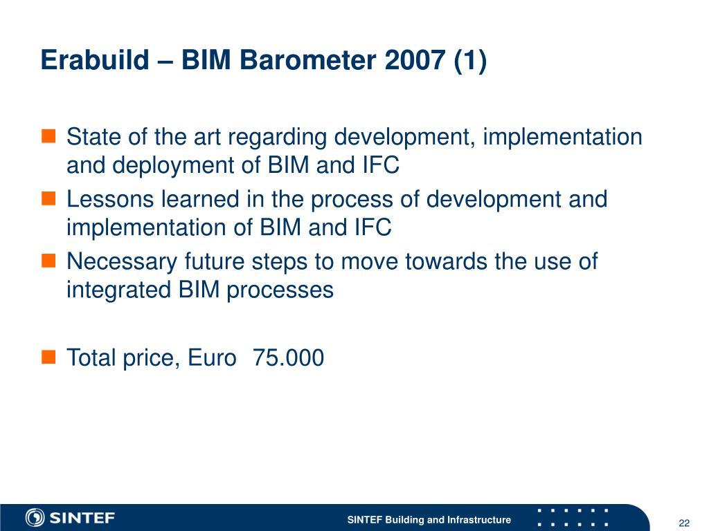 Erabuild – BIM Barometer 2007 (1)