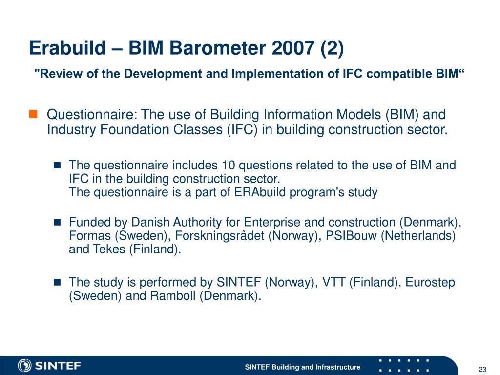 Erabuild – BIM Barometer 2007 (2)