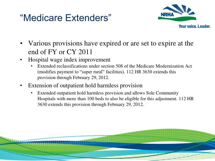 """""""Medicare Extenders"""""""