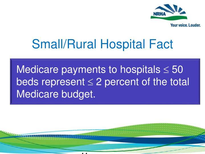 Small/Rural Hospital Fact