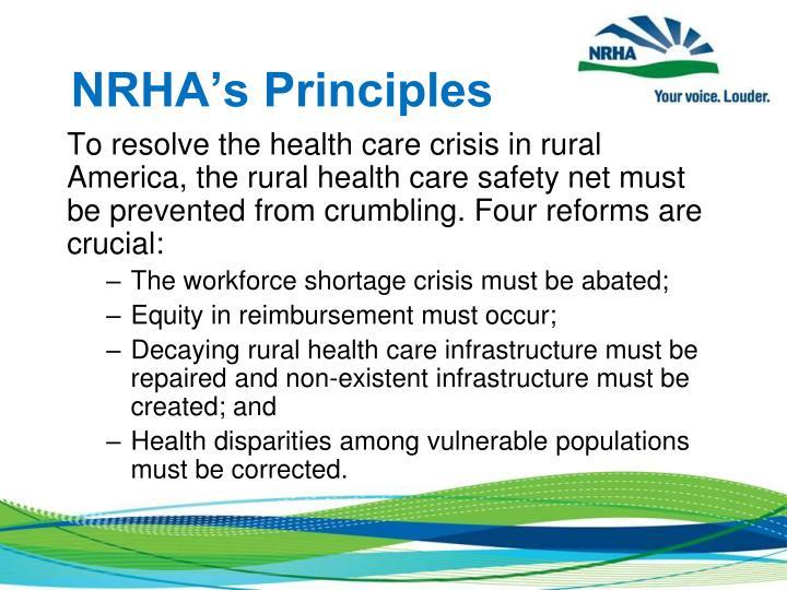NRHA's Principles