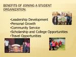 benefits of joining a student organization