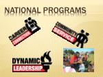 national programs