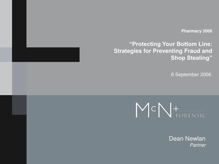 pharmacy 2006 protecting your bottom line strategies for preventing fraud and shop stealing n.