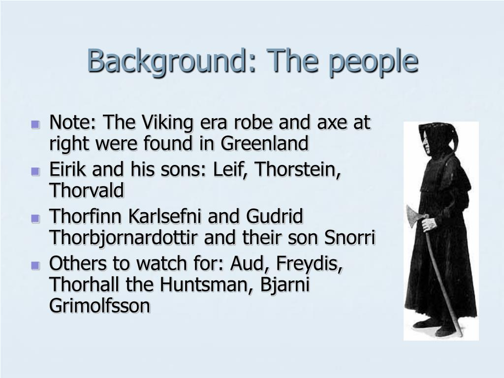 Background: The people
