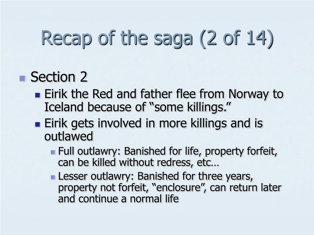Recap of the saga (2 of 14)