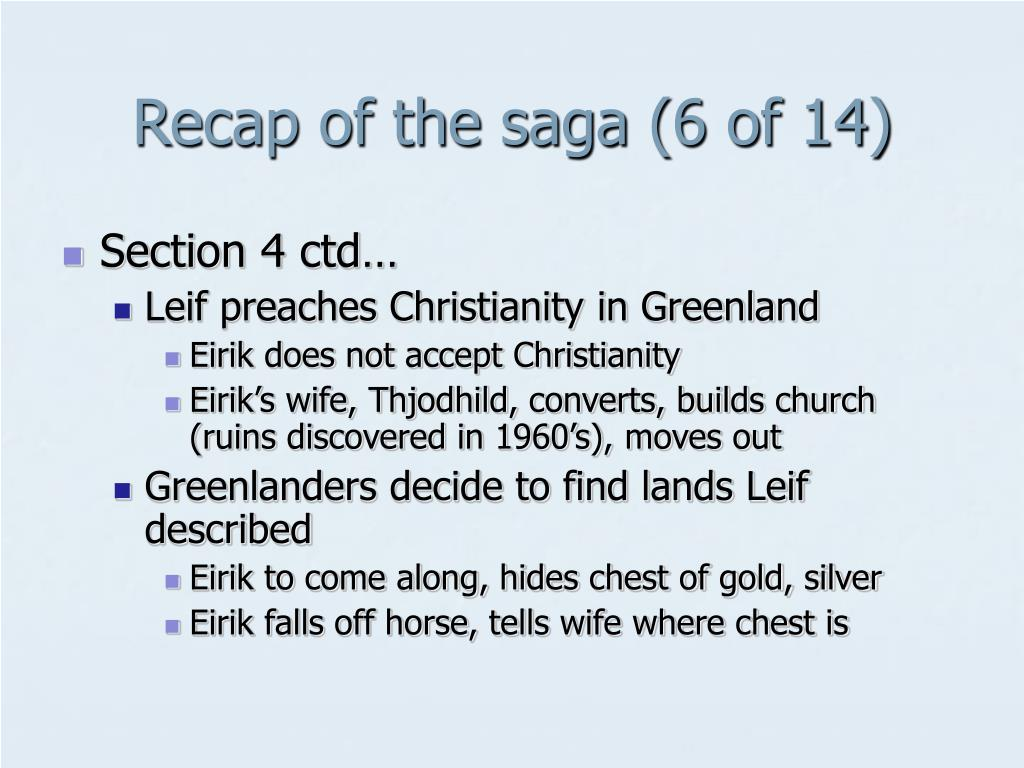 Recap of the saga (6 of 14)