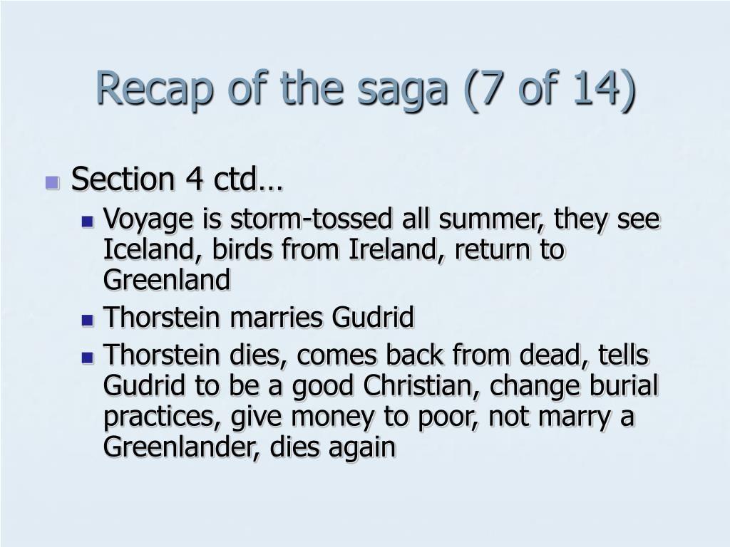 Recap of the saga (7 of 14)