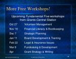 more free workshops