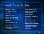 sample audit checklist