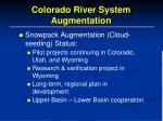 colorado river system augmentation