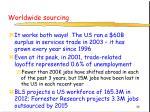 worldwide sourcing