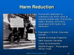 harm reduction