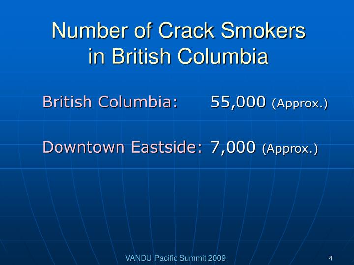 Number of Crack Smokers