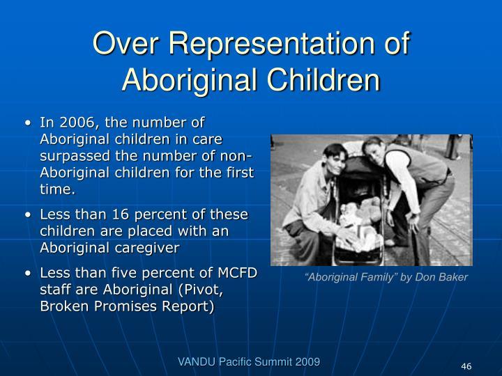 Over Representation of Aboriginal Children