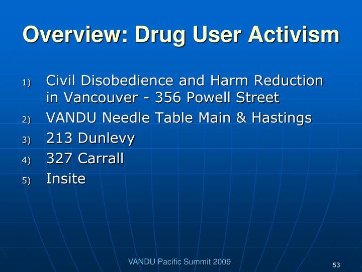 Overview: Drug User Activism