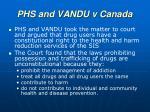 phs and vandu v canada