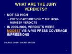 what are the jury verdicts