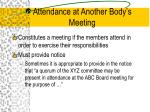 attendance at another body s meeting