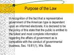purpose of the law