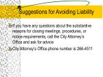 suggestions for avoiding liability1