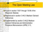 the open meeting law