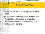 tours site visits