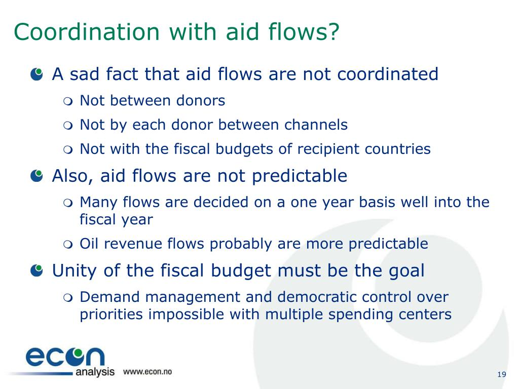 Coordination with aid flows?