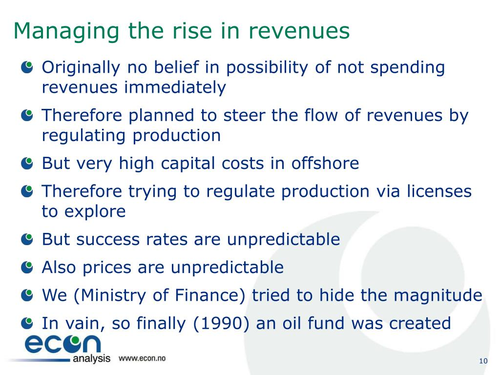 Managing the rise in revenues
