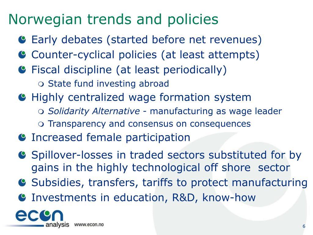 Norwegian trends and policies