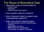 the reuse of biomedical data