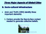 three major aspects of global cities1