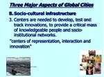 three major aspects of global cities3