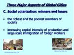 three major aspects of global cities4