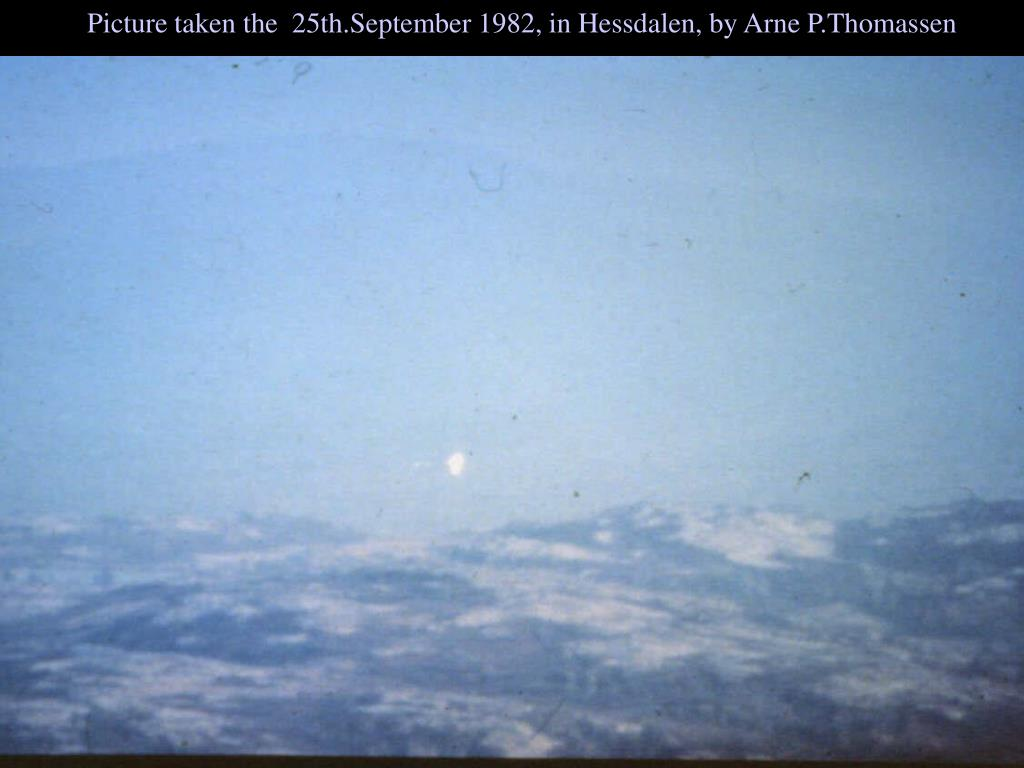 Picture taken the  25th.September 1982, in Hessdalen, by Arne P.Thomassen