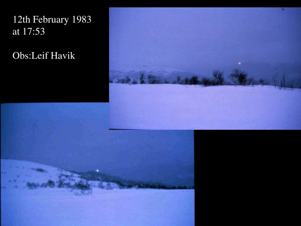 12th February 1983