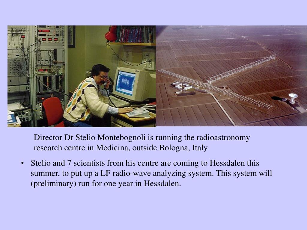 Director Dr Stelio Montebognoli is running the radioastronomy research centre in Medicina, outside Bologna, Italy
