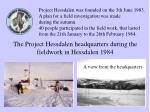 the project hessdalen headquarters during the fieldwork in hessdalen 1984