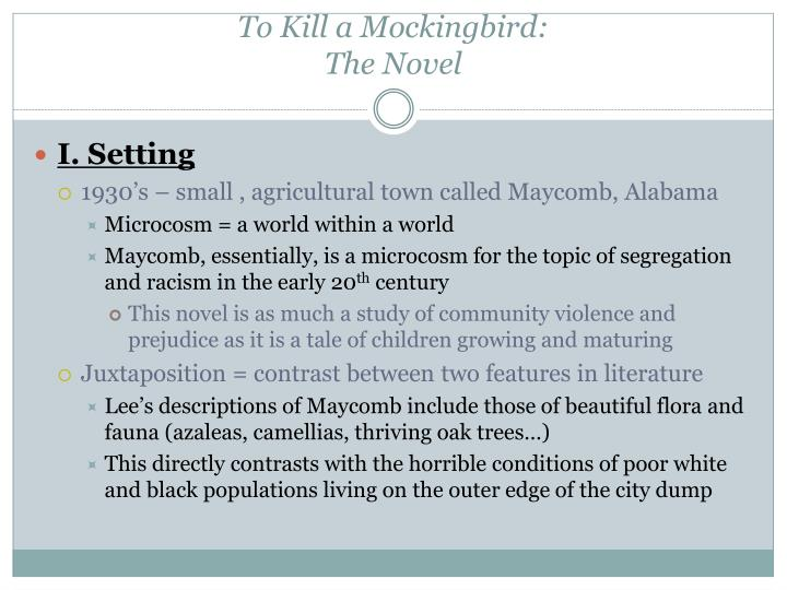 "the introduction of maycomb in to Dive deep into harper lee's to kill a mockingbird with extended analysis for the action never leaves the town of maycomb philip d ""introduction."