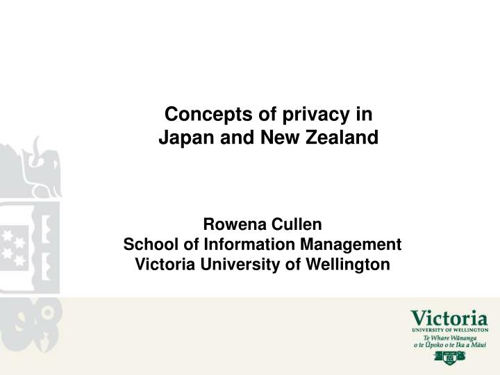 concepts of privacy in japan and new zealand n.