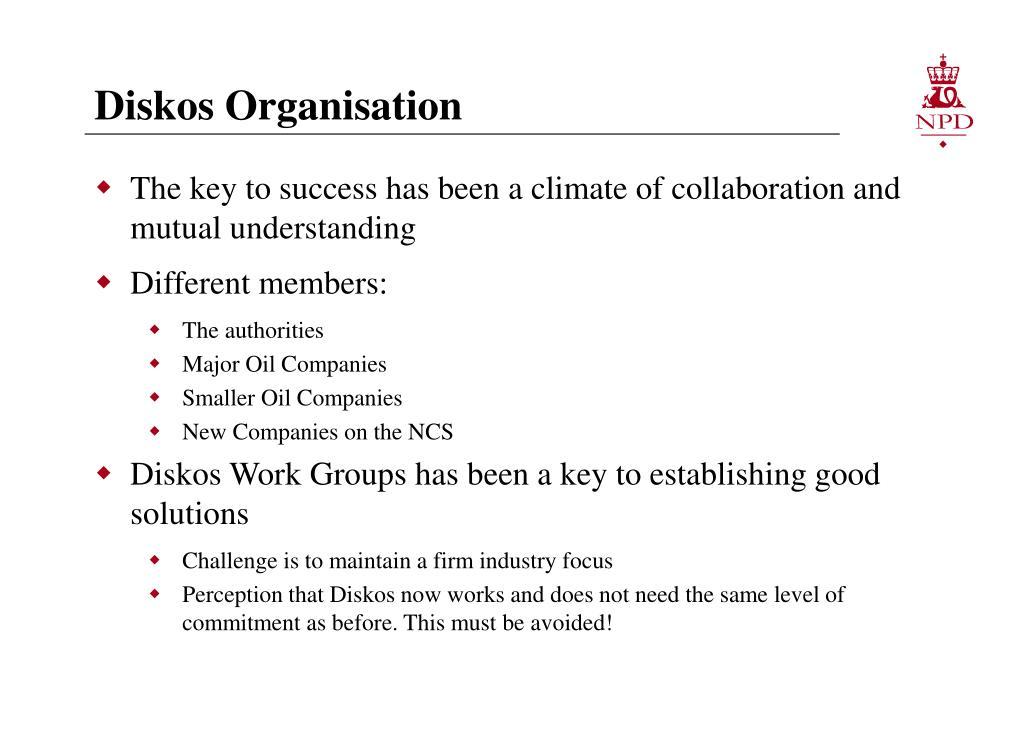 Diskos Organisation