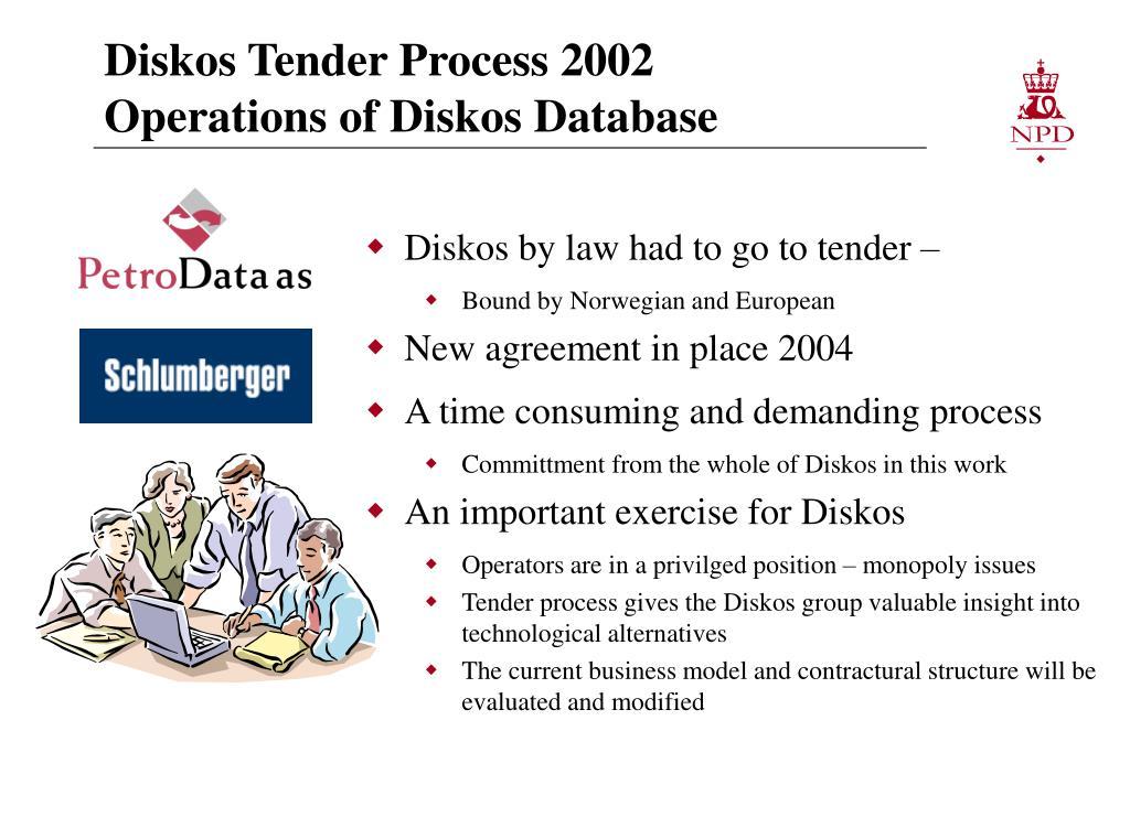 Diskos Tender Process 2002