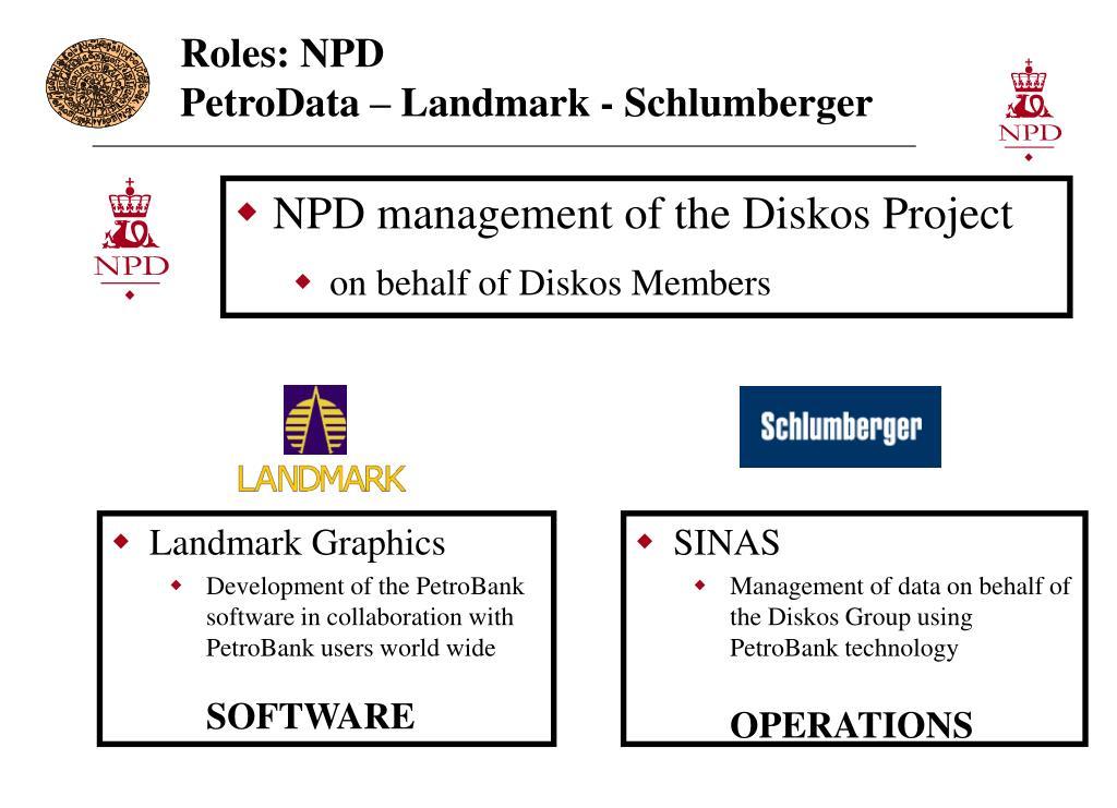 Roles: NPD